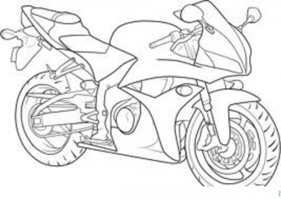 Motorcycle Coloring Pages (13) - Coloring Kids