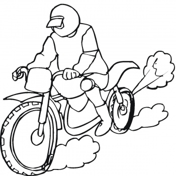 Motorcycle Coloring Pages 16