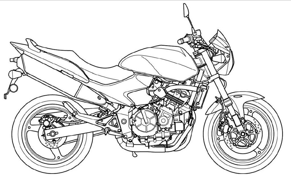 Motorcycle Coloring Pages (2) - Coloring Kids