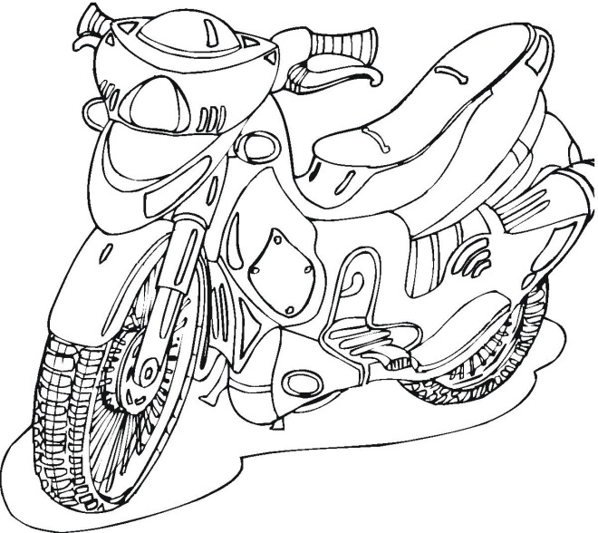 Motorcycle Coloring Pages 21