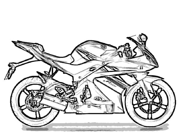 Motorcycle Coloring Pages (8) - Coloring Kids