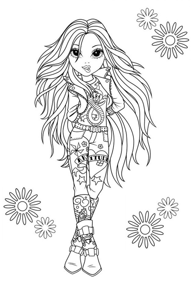 Kleurplaat Rapunzel Paard Moxie Girlz Coloring Pages 3 Coloring Kids