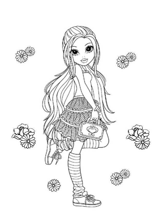 Moxie Girlz Coloring Pages 7