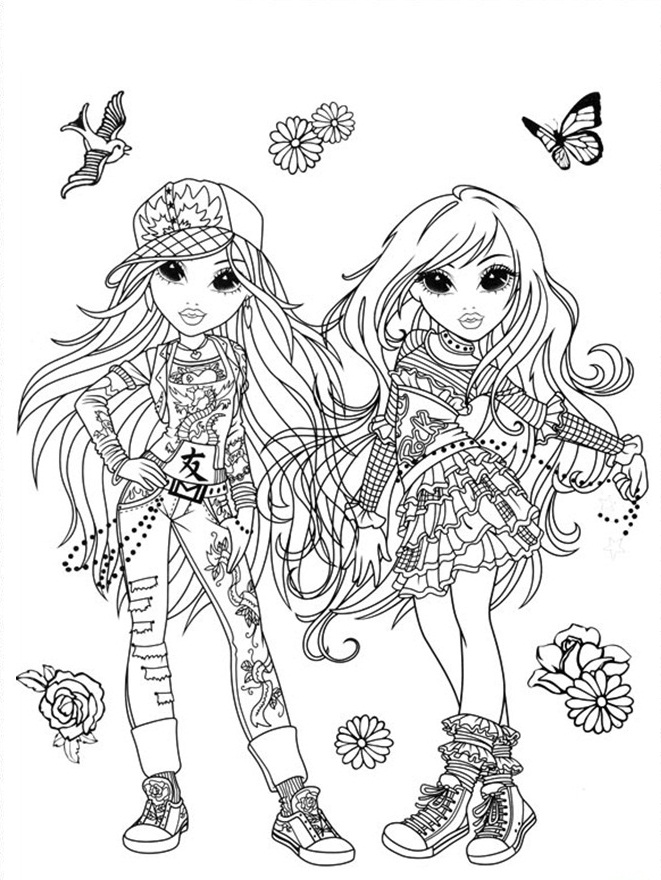 Moxie Girlz Coloring Pages 9 Coloring Kids Coloring Pages For 9 And Up