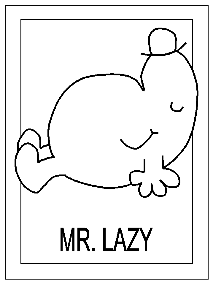mr men coloring pages - photo#8