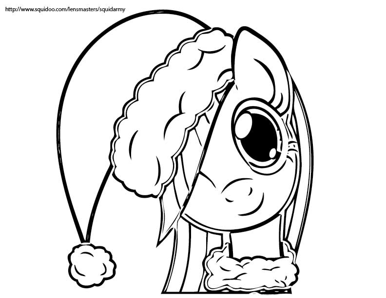 My Little Pony Coloring Pages christmas  Coloring Kids