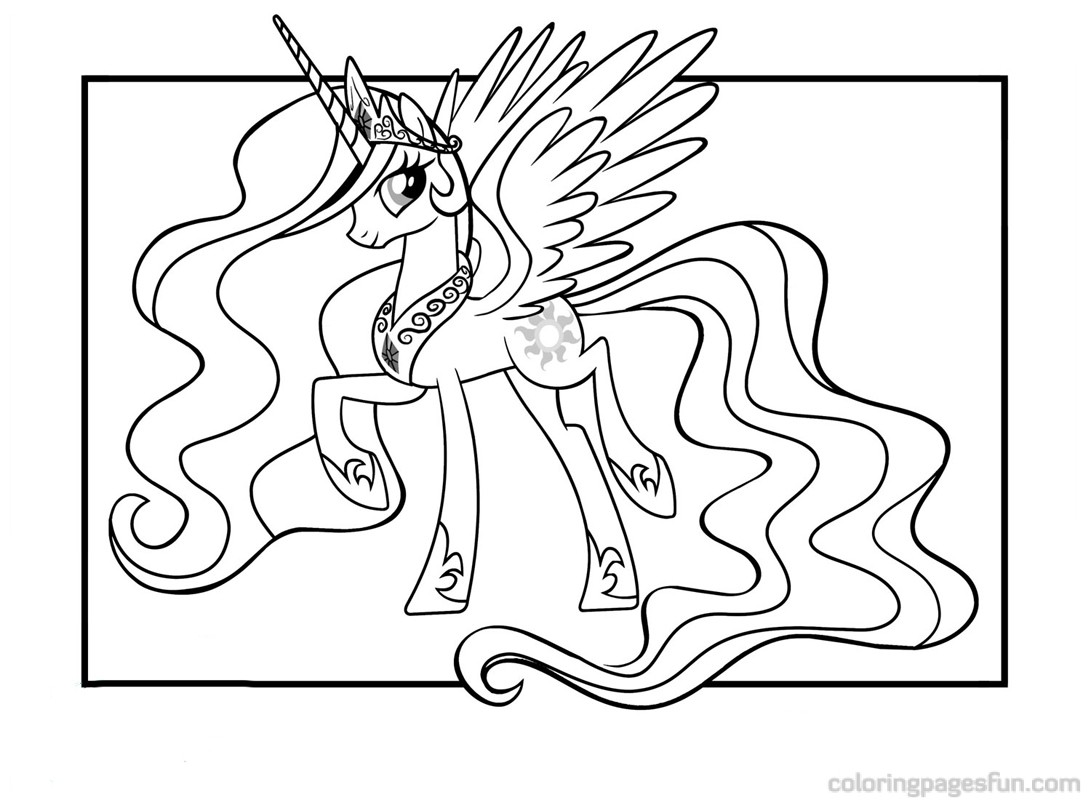 Uncategorized Ponies Coloring Pages my little pony princess celestia coloring pages for kids download kids