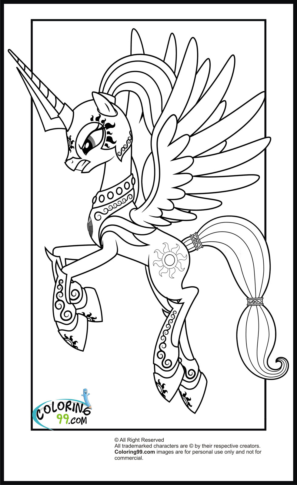 my little pony princess celestia coloring pages coloring kids