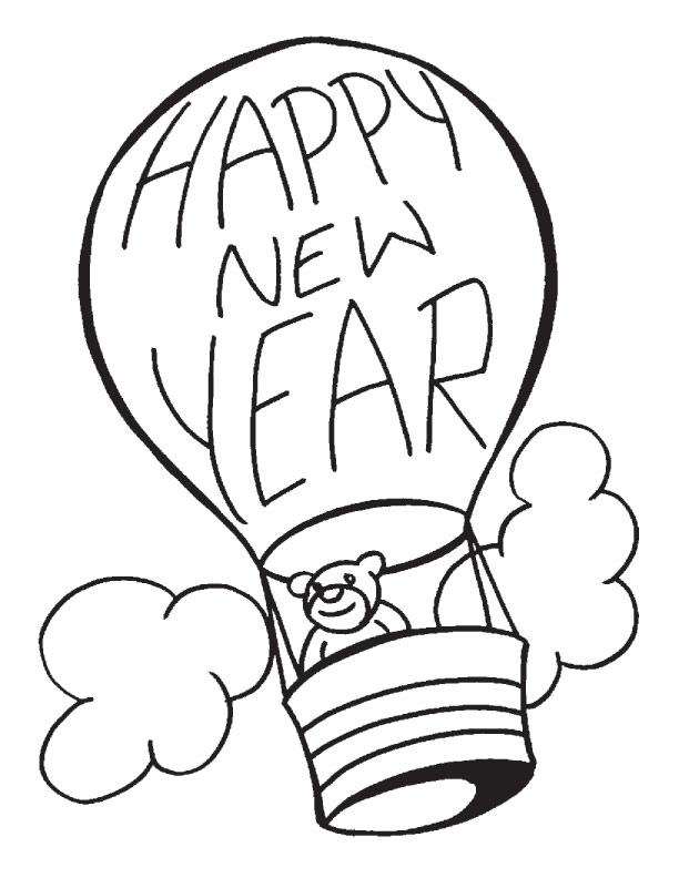 new year coloring pages 1 coloring kids