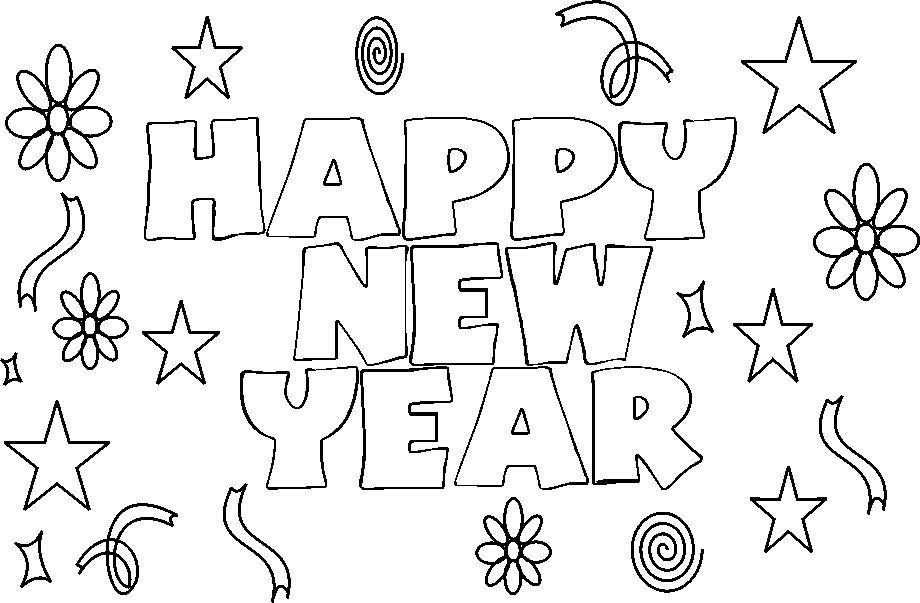New Year Coloring Pages 7 Coloring Kids