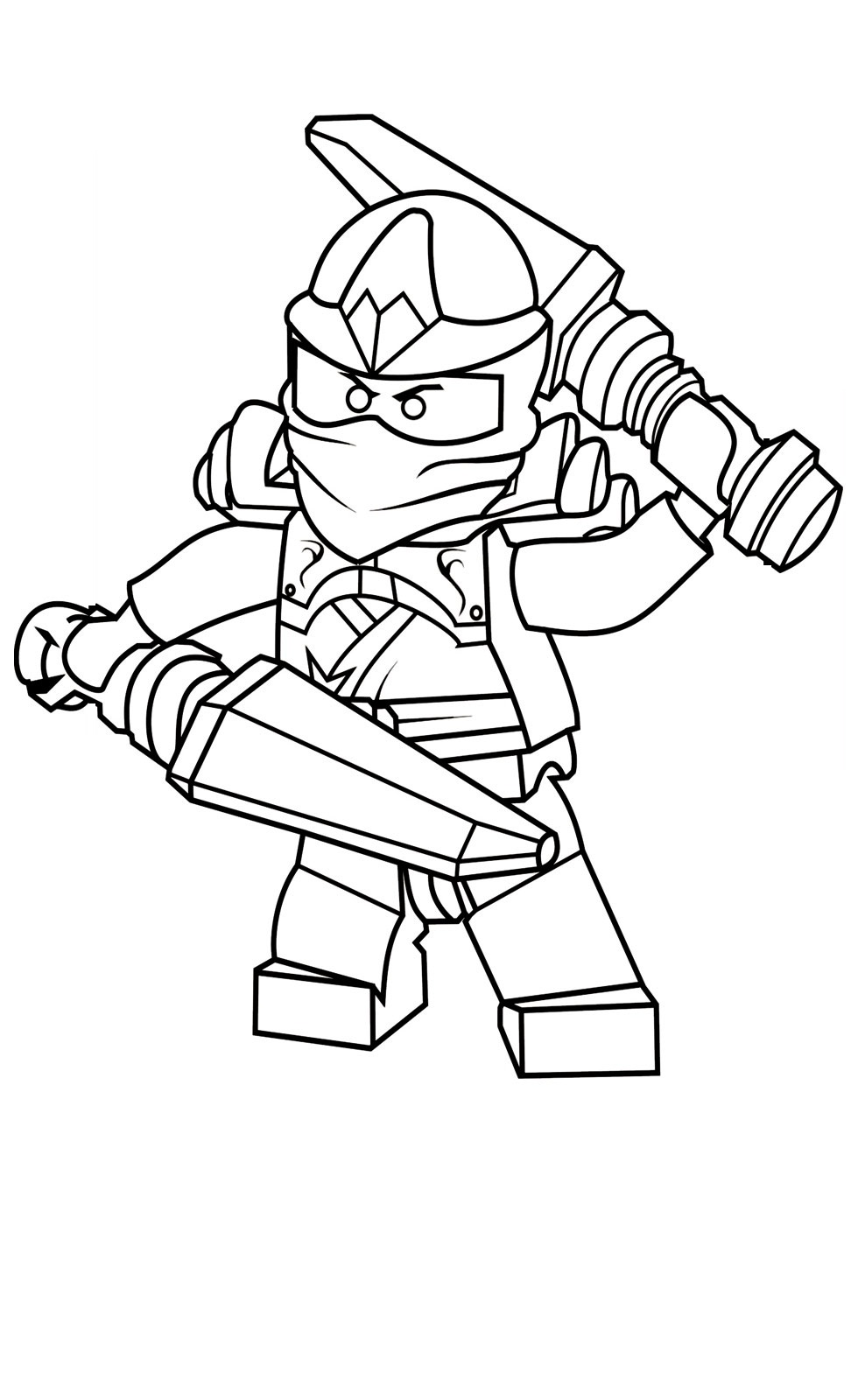 Download Ninjago Coloring Pages Free Printable
