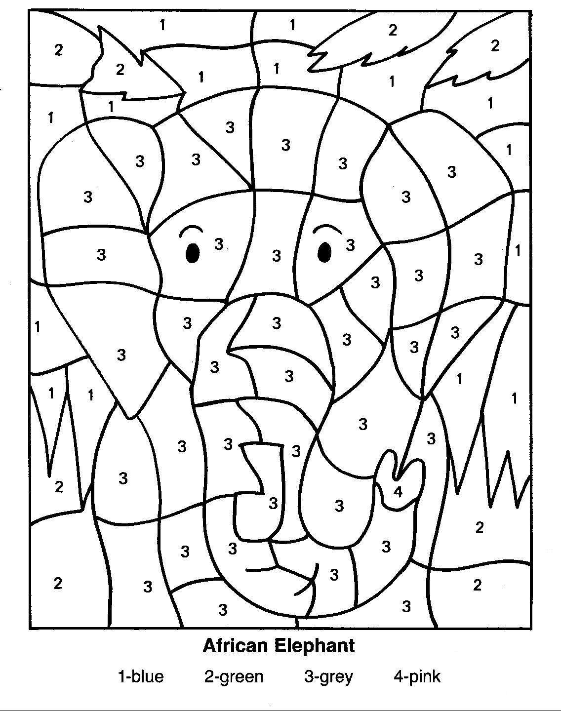 Coloring pages by numbers for adults - Download Number Coloring Pages 10
