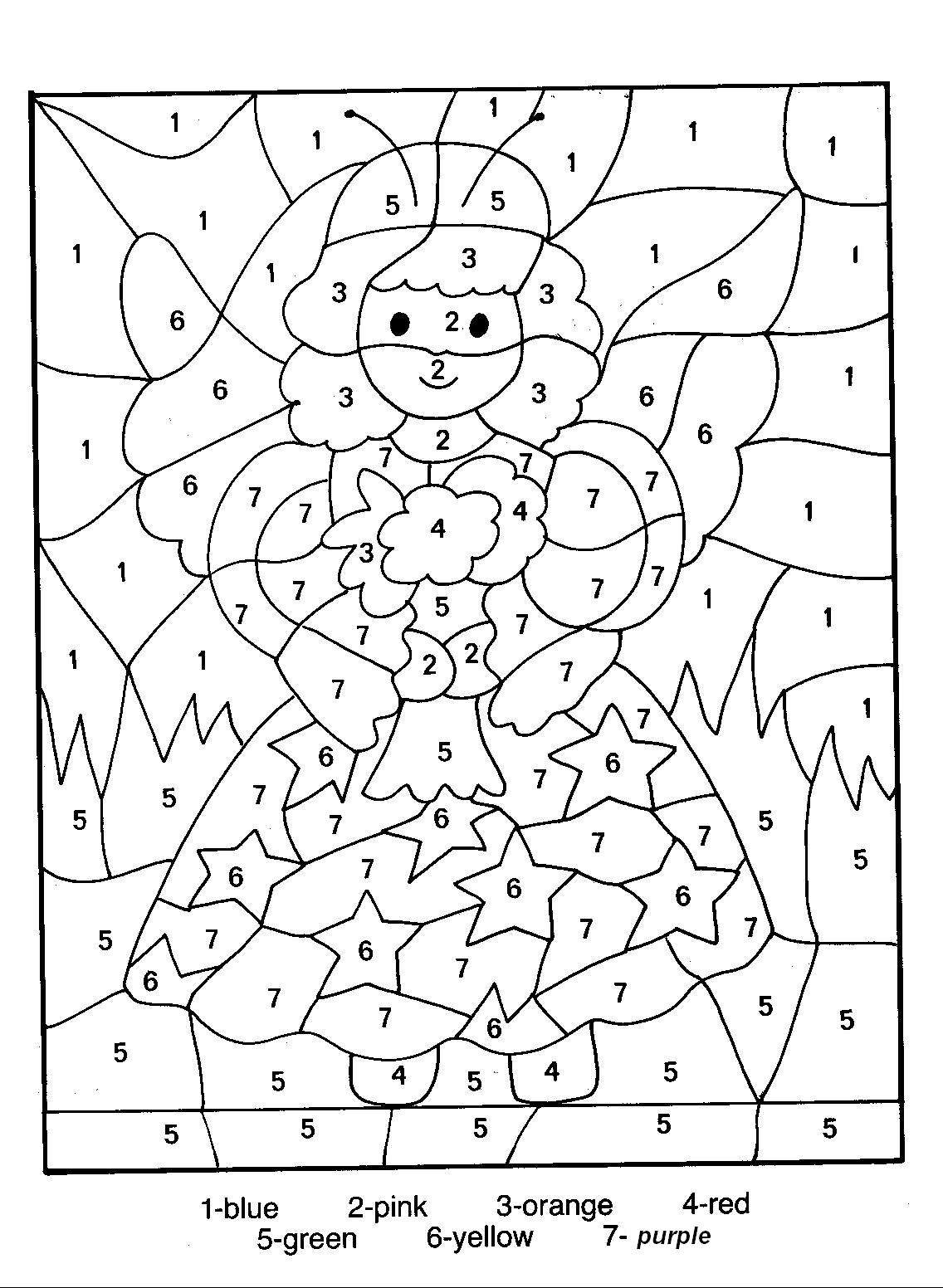 download number coloring pages 13 - Coloring Activities For Children