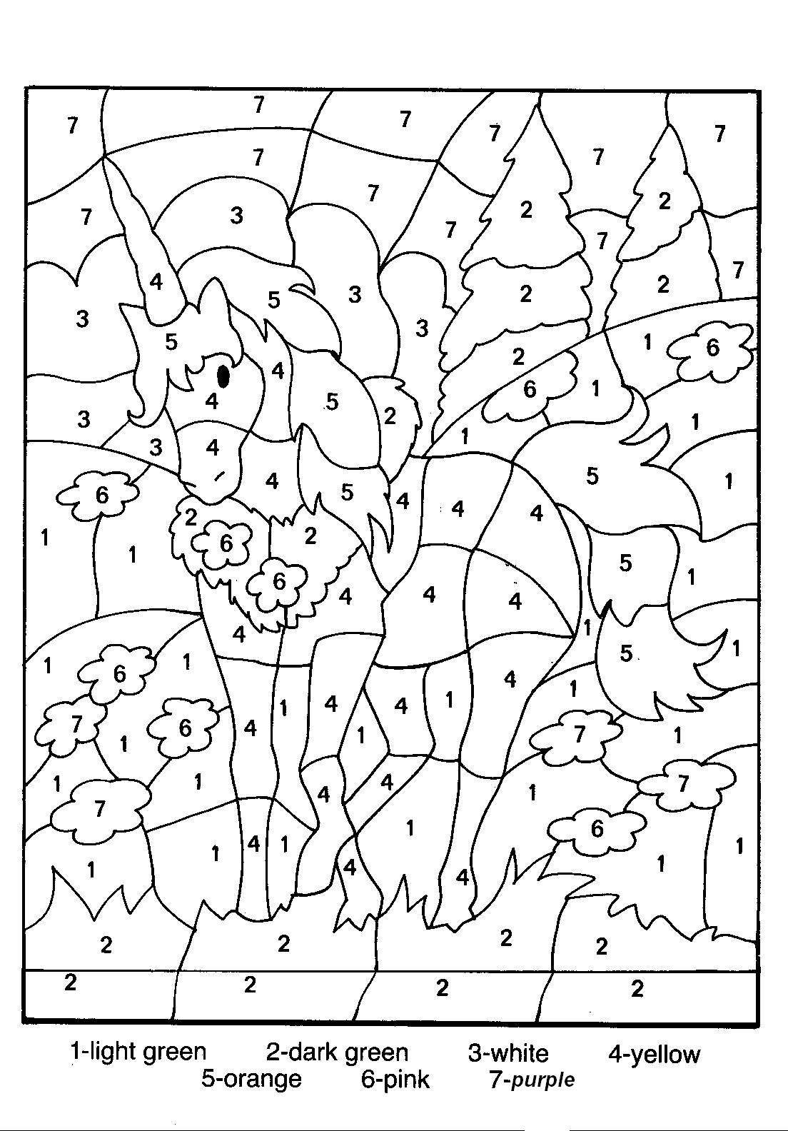 Number Coloring Pages (14) | Coloring Kids