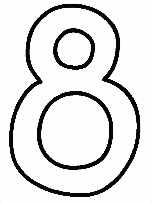 Number Coloring Pages (3)