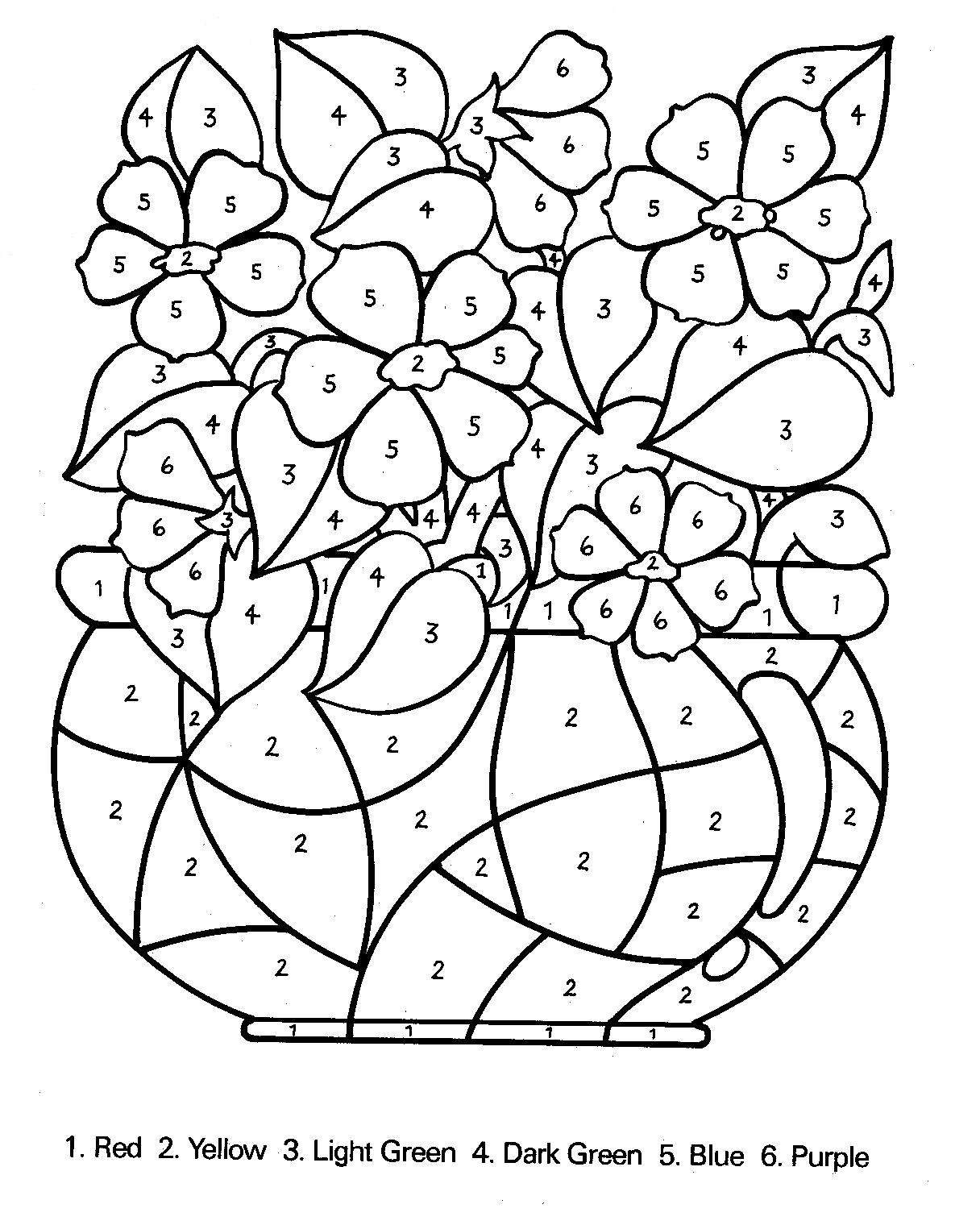 download number coloring pages 4 print