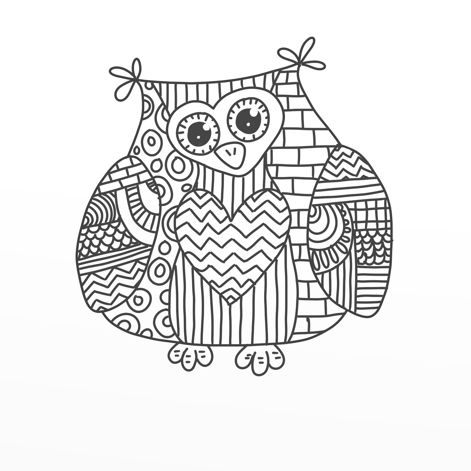 Owl coloring pages 2 coloring kids for Free doodle art coloring pages
