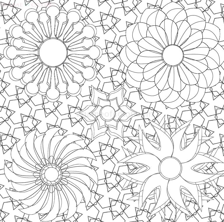 patternsmandala Coloring Kids
