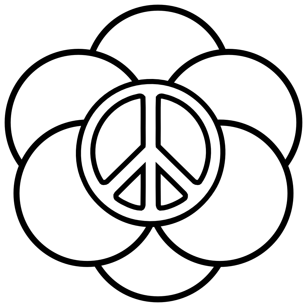 heart peace sign coloring pages - photo#3