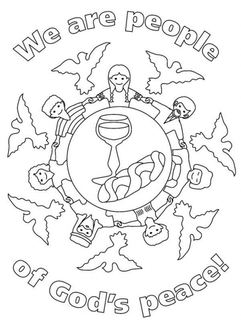 download peace coloring pages 15 - Peace Coloring Pages