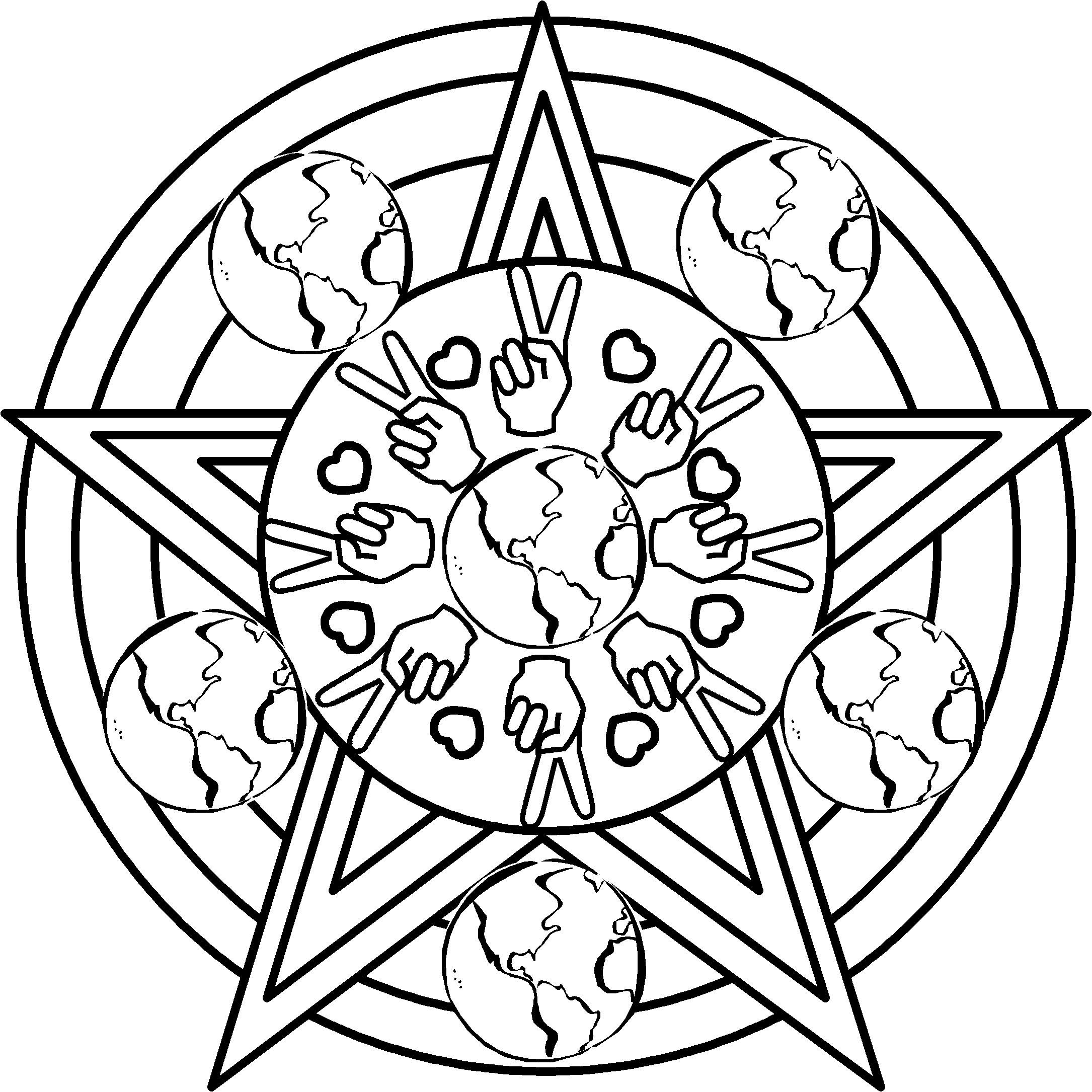download peace coloring pages 7