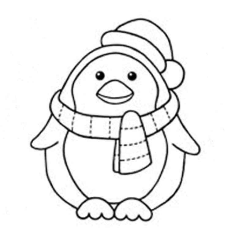 preschool penguins coloring pages - photo#26