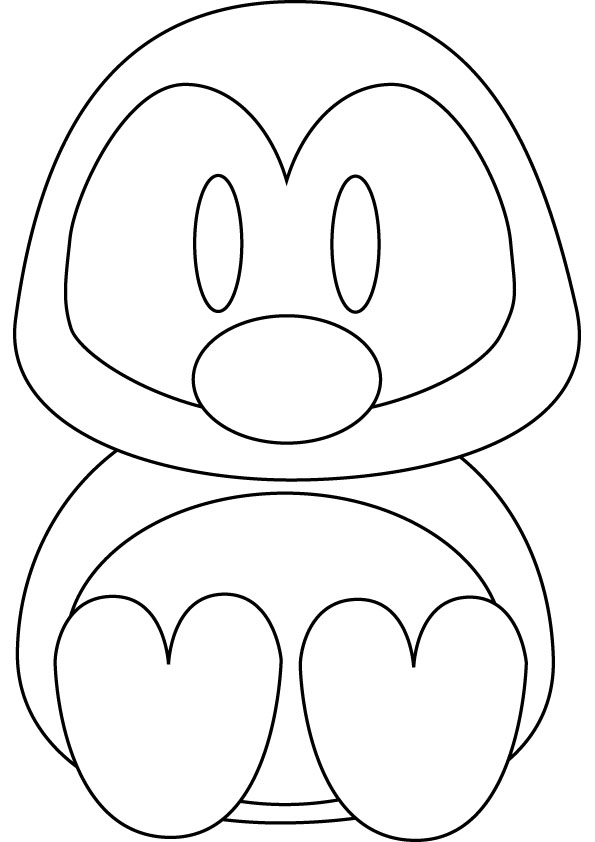 download penguin coloring pages 3 - Penguins Coloring Pages Printable