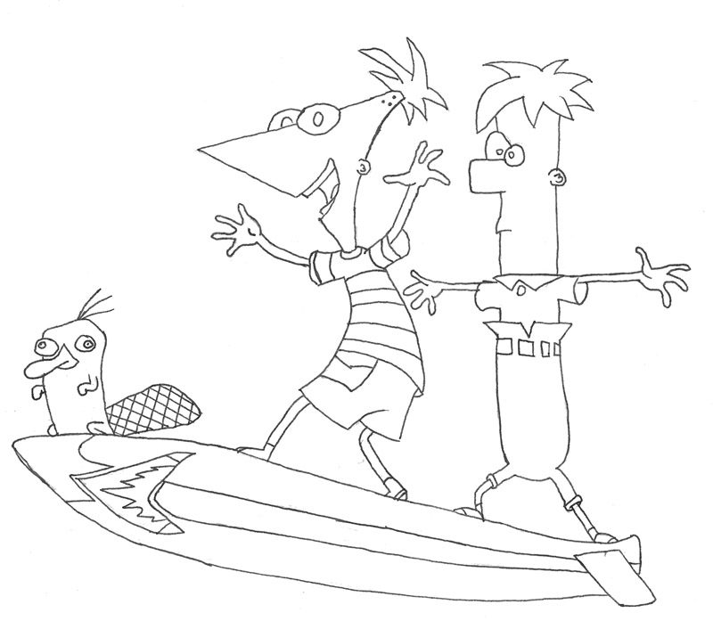 Phineas And Ferb Coloring Pages 10 Coloring Kids