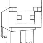 Pig from Minecraft Coloring Page