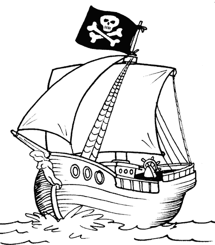 pirate ship coloring page coloringkids.org