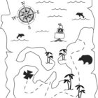 Pirate Treasure Map Coloring Pages - AZ Coloring Pages