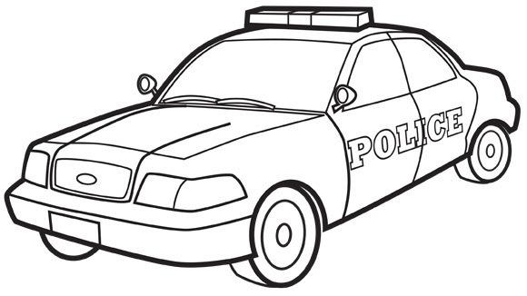 Police Car coloringkidsorg  Coloring Kids