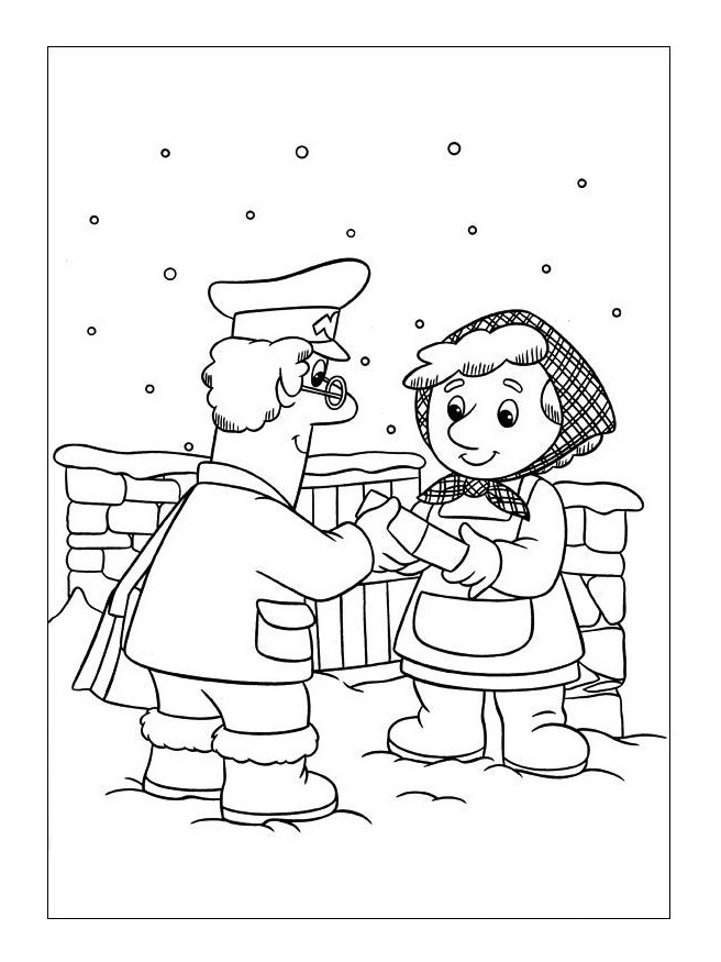 Postman Pat Coloring Pages 4 Coloring Kids