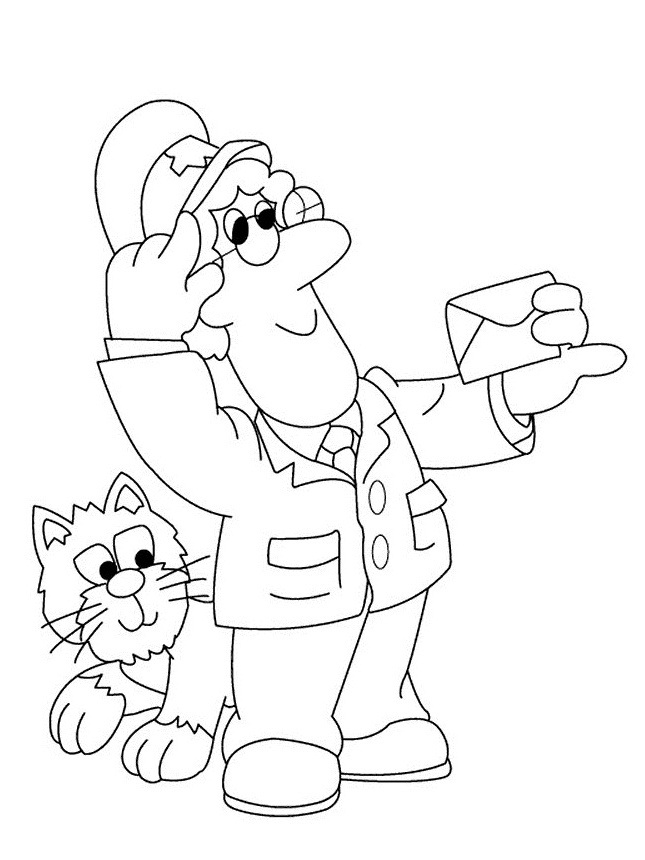 Postman Pat Coloring Pages 5 Coloring Kids