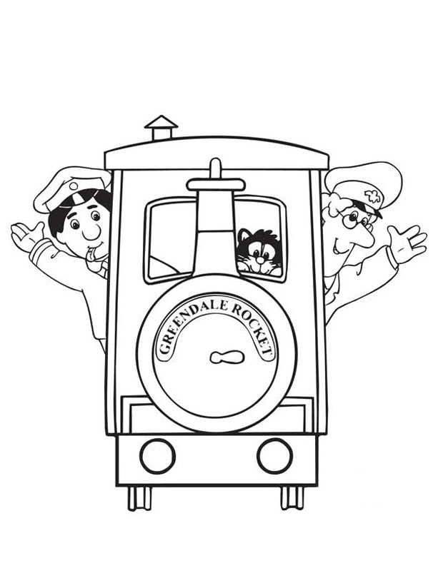 Postman Pat Coloring Pages 6 Coloring Kids