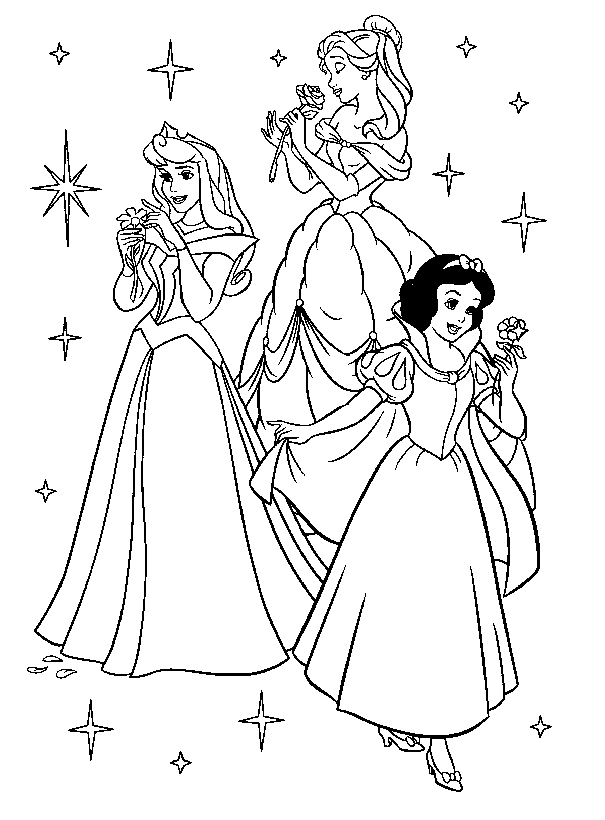 Disney Princesses Coloring Pages Princess Coloring Pages 6  Coloring Kids