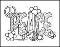 print Peace Coloring Pages