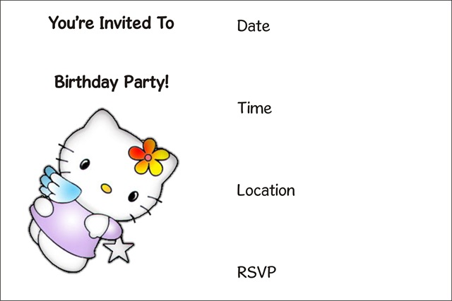 Printable Birthday Invitations 15 Coloring Kids – Kids Birthday Invitations Printable