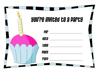 Printable Birthday Invitations (18) | Coloring Kids