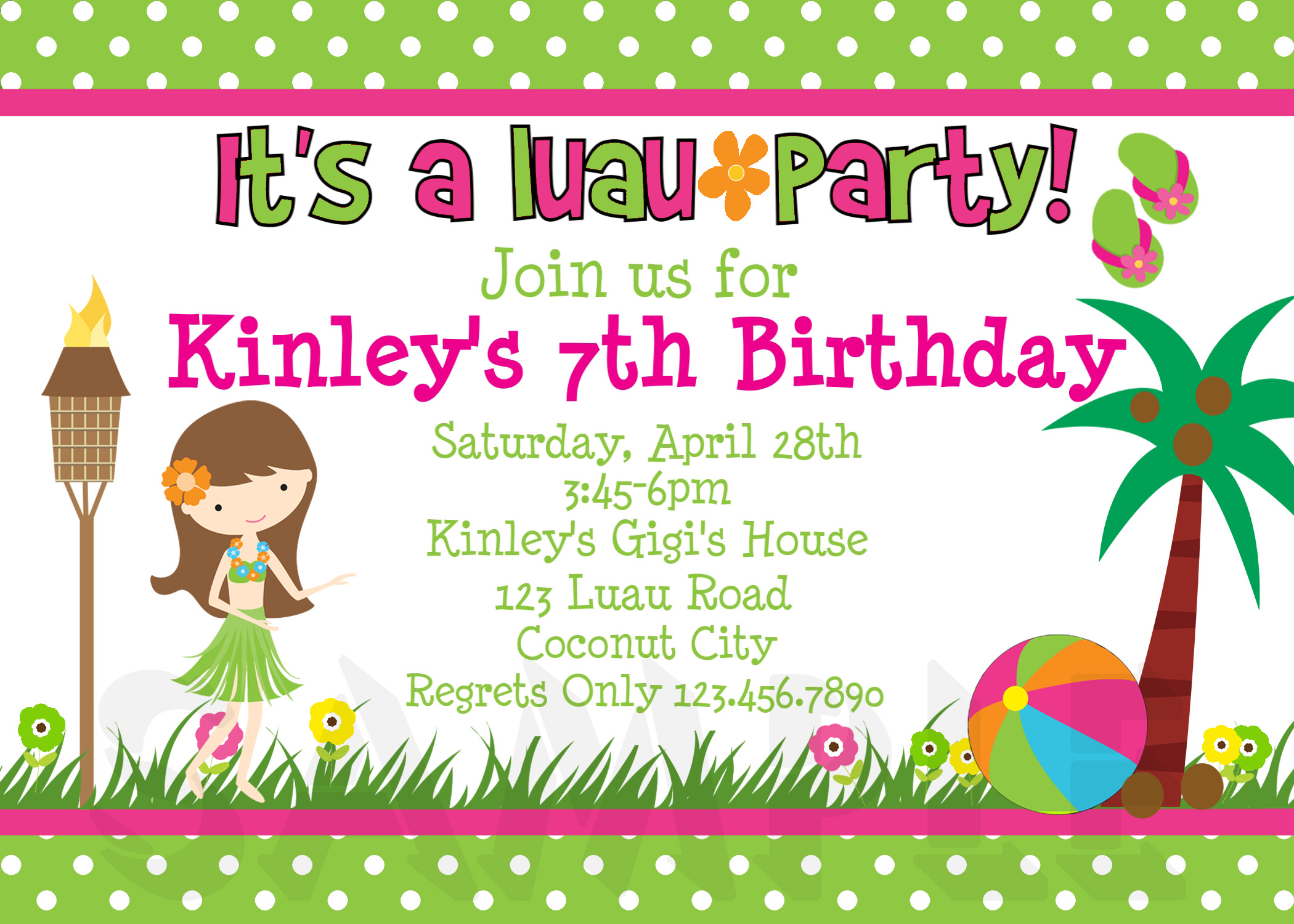 Printable Birthday Invitations 4 Coloring Kids