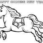 printable colouring pages wooden horse chinese new year id 51546 ...