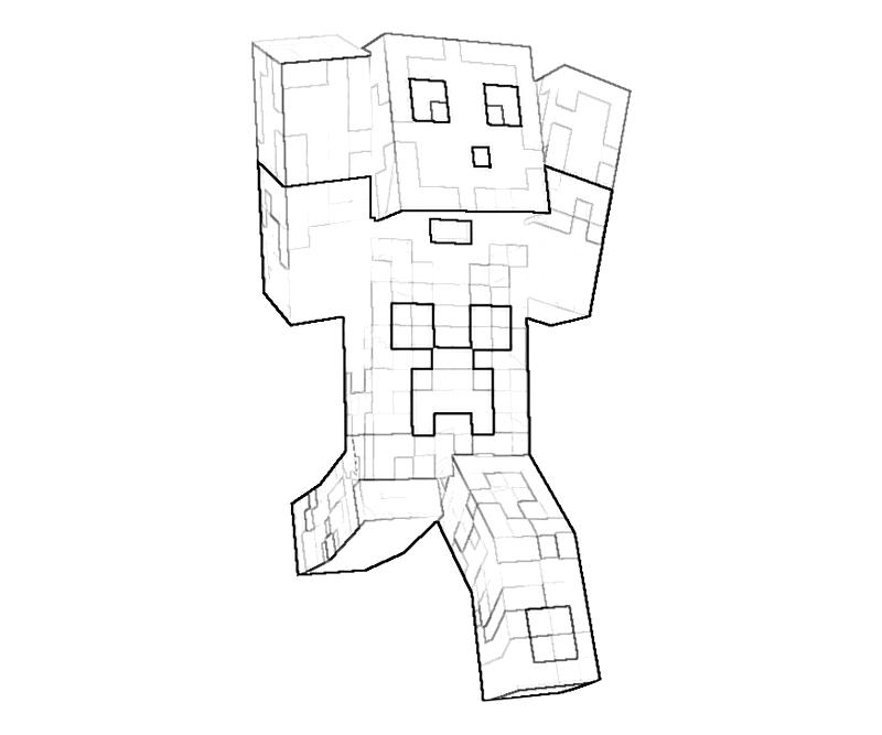 download printable minecraft character action coloring pages