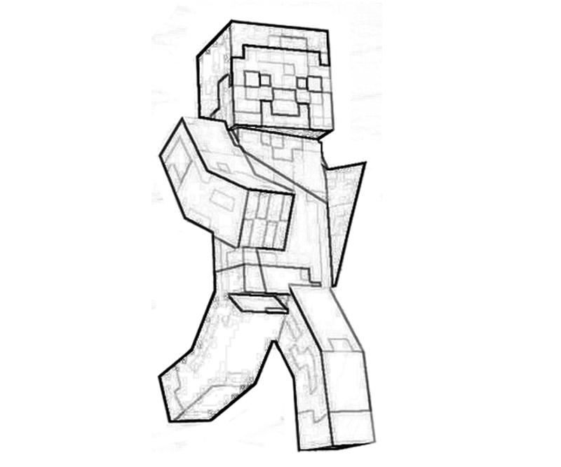download printable minecraft character coloring pages