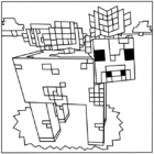 Printable Minecraft Mooshroom coloring pages.
