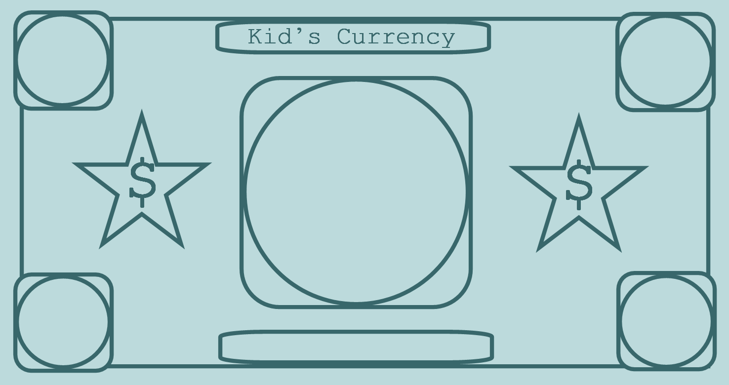 printable play money blue Coloring Kids – Play Money Template