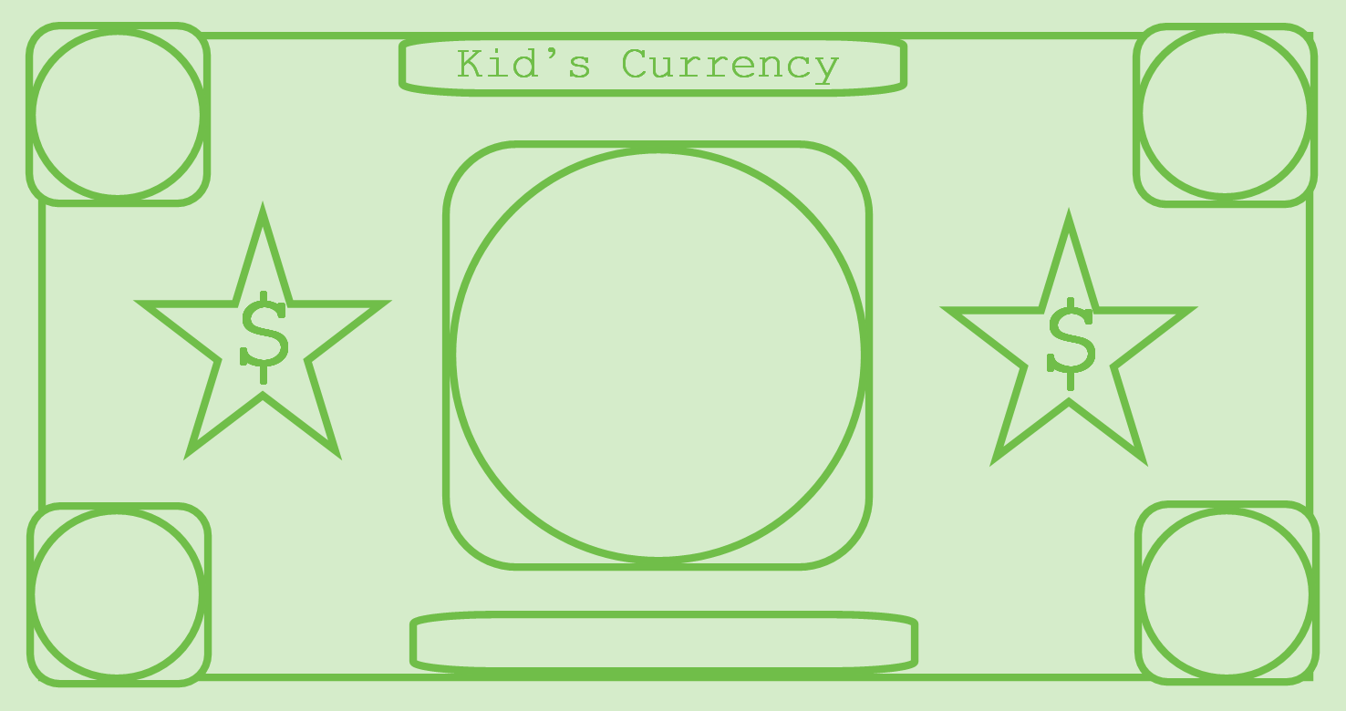 printable play money green coloring kids