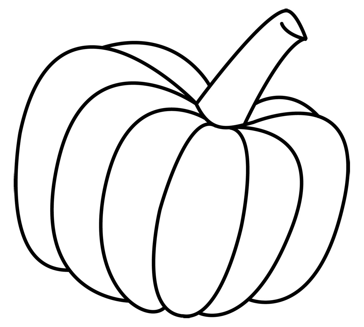Pumpkin coloring pages for kids - Download Pumpkin Coloring Pages 2