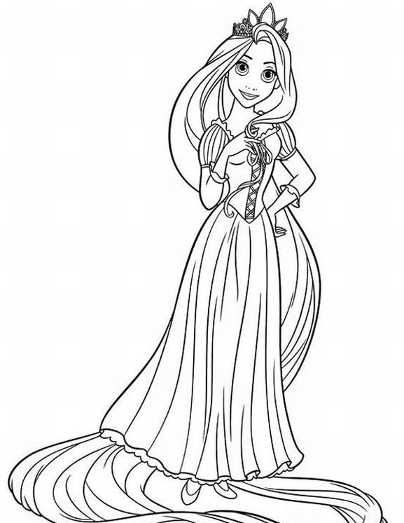Rapunzel Coloring Pages (11) - Coloring Kids