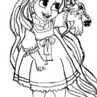 rapunzel coloring pages 13 140x140 Rapunzel Coloring Pages