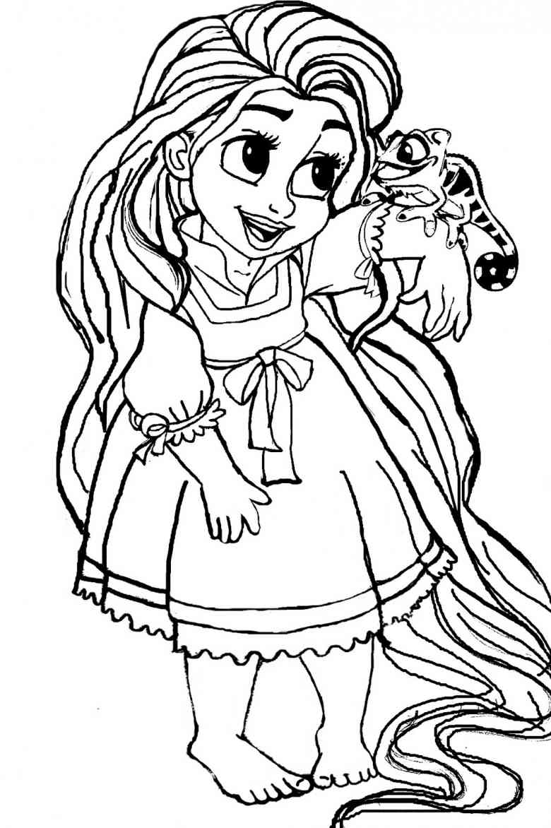Rapunzel Coloring Pages Rapunzel Coloring Pages 13  Coloring Kids